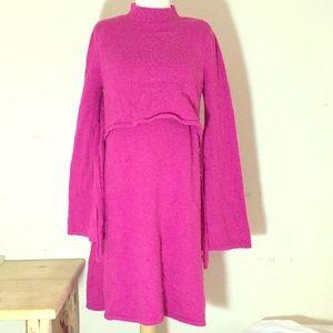 ASOS Maternity Nursing Sweater Dress Magenta Jewel